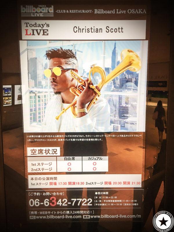 Christian Scott Oct.30.2017 ビルボード大阪 – クリスチャン・スコットを観てきました!の画像3枚目
