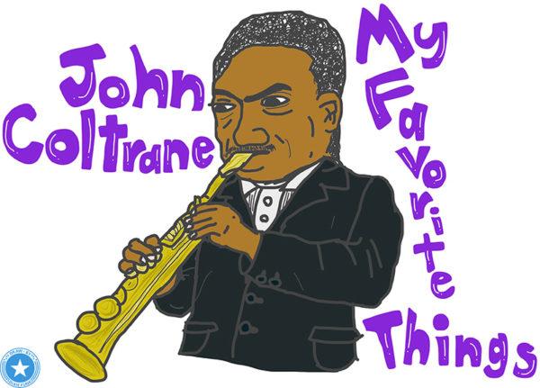 iPadでジョン・コルトレーンを描いてみました。