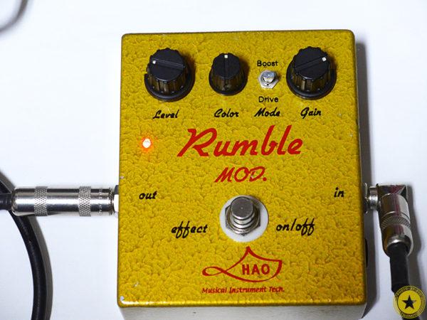 僕のお気に入りのエフェクターをご紹介しているブログ記事シリーズです。『HAO Rumble MOD.』をご紹介したブログ記事の写真13枚目