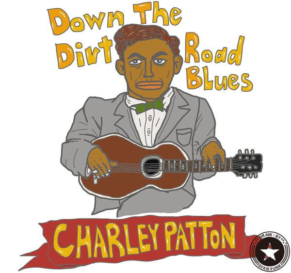 "CHARLEY PATTON - ""Down The Dirt Road Blues"" iPadで描いたチャーリー・パットンの絵の画像"