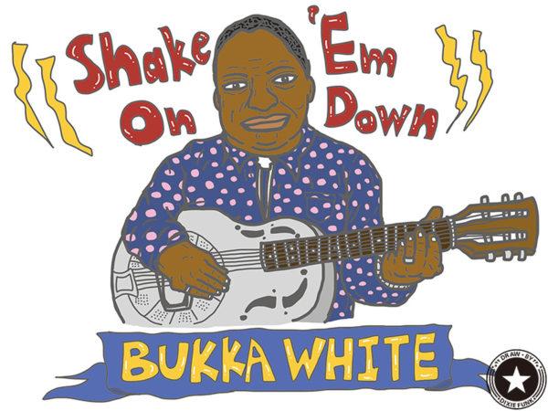 "Bukka White - ""Shake 'Em On Down"" iPadで描いたブッカ・ホワイトの絵の画像"