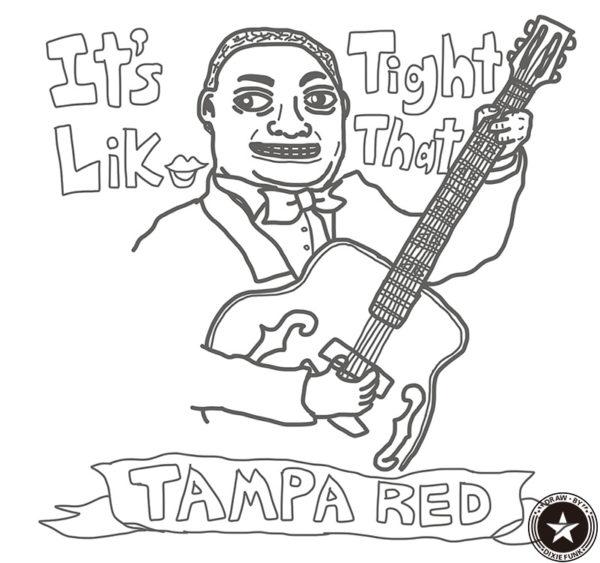 """Tampa Red - """"It's Tight Like That"""" iPadで描いたタンパ・レッドの下絵の画像"""