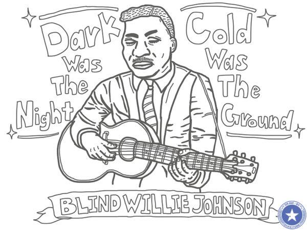 "Blind Willie Johnson - ""Dark Was The Night Cold Was The Ground"" iPadで描いたブラインド・ウィリー・ジョンソンの下絵の画像"