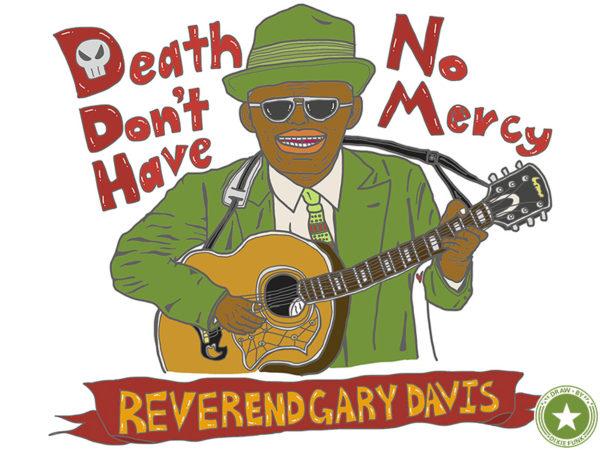 "Reverend Gary Davis - ""Death Don't Have No Mercy"" iPadで描いたレヴァランド・ゲイリー・デイヴィスの絵の画像"