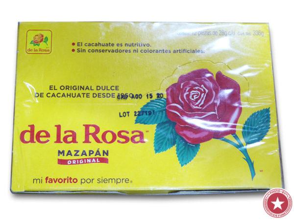 メキシコ のお土産で頂いたデ・ラ・ロサ(De La Rosa)社が販売している伝統菓子『マザパン』を食べた感想を書いたブログ記事の画像1枚目