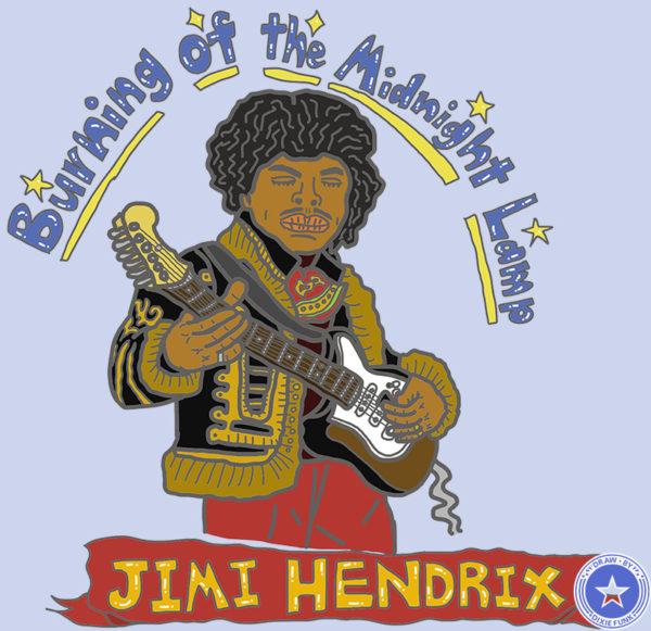 iPadで描いたジミ・ヘンドリックスの絵の画像