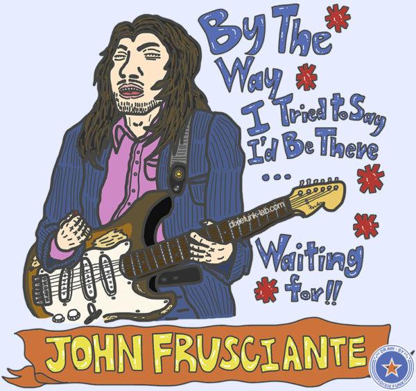 iPadで描いたジョン・フルシアンテの絵です。