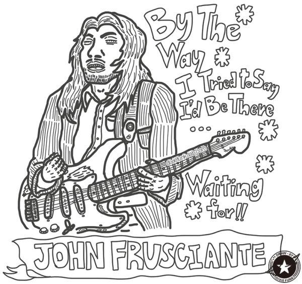 iPadで描いたジョン・フルシアンテの下絵です。