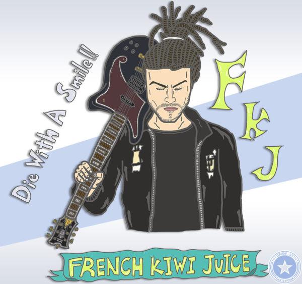 iPadで描いたFKJ(French Kiwi Juice)のイラストです。FKJ Illustration