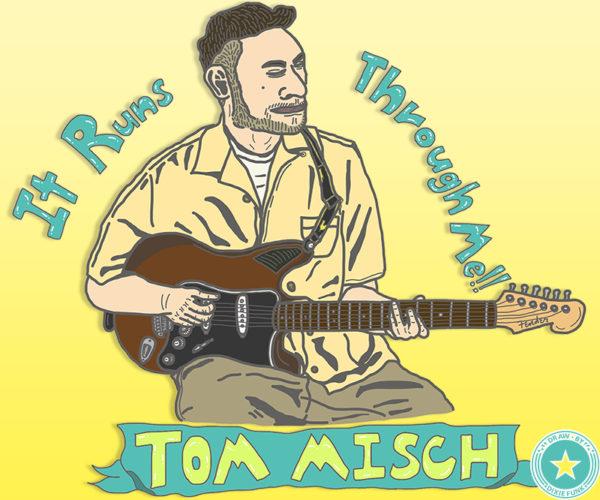iPadで描いたトム・ミッシュのイラストです。Tom Misch Illustration