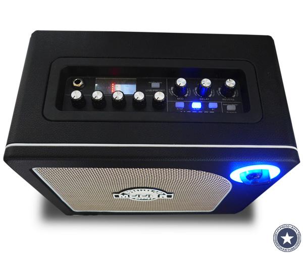 """可愛らしいアンティークなデザインが""""映える""""便利な機能付き小型デジタルギターアンプMOORE HORNET SERIESをご紹介したブログ記事の写真8枚目"""