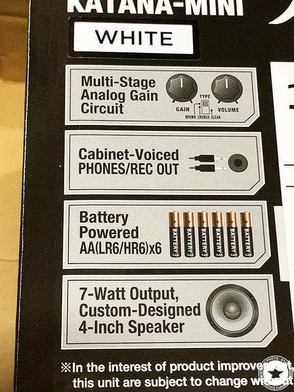 BOSSの小型ギターアンプ 『KATANA-MINI WH』を 購入して使用した感想を書いたブログ記事の写真6枚目